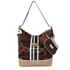 CoachOutletStore Coach In Signature Medium Coffee Shoulder Bags AYK -   61.99  Save Up to 70% Off!!