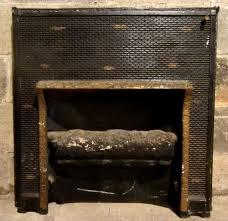 antique cast iron fireplace insert gas log ornate