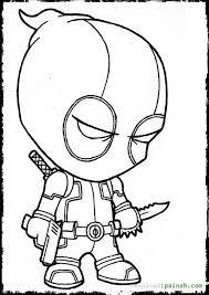 Deadpool Cartoon Coloring Page Color Pages Cartoon Coloring