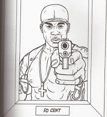 Gangsta Rap Coloring Book Pages Color Bros