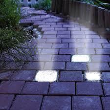 Led Solar Power Bricks Landscape Lighting Solar Powered