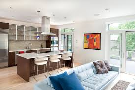 Kitchen Living Space Living Room Kitchen For Dream Comfortable Home Life
