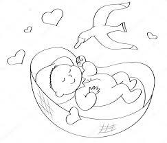 Kleurplaat Baby Slapen Stockfoto Carlacastagno 110628450