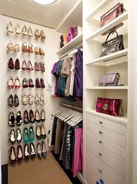 Bedroom:Simple Organization Idea For Womens Closet In Master Bedroom With  High Shoe Shelves Master