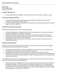 appraiser sample resume. Appraiser Sample Resume. real estate ...