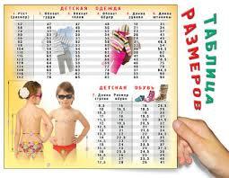 """Магнитный мини-плакат на холодильник """"<b>Таблица размеров</b> для ..."""