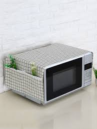 Buy <b>1 Pc Microwave Oven</b> Dustproof Cover With Pockets Cloth ...
