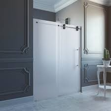 modern sliding glass shower doors. Inspiring Vigo Inch Frameless Frosted Glass Sliding Shower Door Of Popular And Room Divider Inspiration Modern Doors A