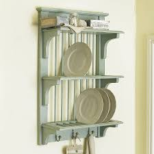 ... Exquisite Kitchen Decoration With Wooden Plate Rack Wall Mounted :  Contemporary Kitchen Decoration Design Interior Ideas ...