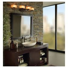 bathroom vanity lighting ideas with brick wall decor