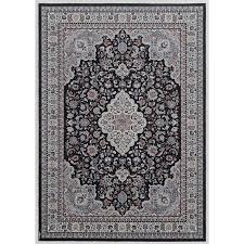 image is loading elite collection black cream area rug 3 3x5