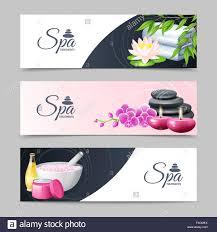 Spa Banner Design Spa Banner Set Stock Vector Art Illustration Vector Image