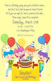 Free Birthday Invitations Templates For Kids Best Birthday Invitation For Kids Free Template Childrens Invitations