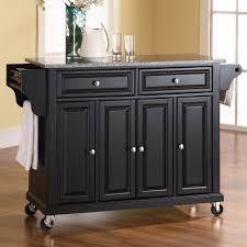 Kitchen Cart Granite Kitchen Attractive Kitchen Island Cart Granite Top Design Ideas