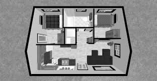 Small Picture Simple House Plan With 2 Bedrooms 3d T Intended Design Inspiration