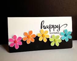 Handmade Birthday Card Designs For Husband Handmade Card Happy Flowers Happy Birthday Short