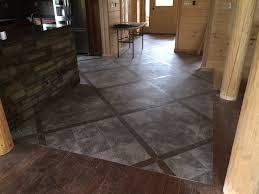 faux slate flooring painting concrete floors kitchen harlequin tile