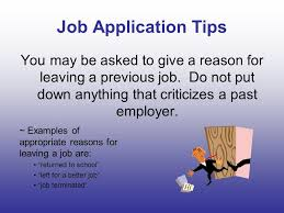 job application tips what does it provide a completed job