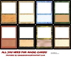 cards templates magic cards templates by hyakkidour4n mtg card template 1