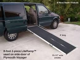 handicap ramps for minivans. 8\u0027 wheelchair ramp | scooter literamp portable handicap ramps ebay for minivans n