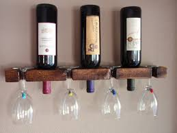 diy wine glass rack. Picture Of Simple Diy Wine Glass Rack And Bottle Holder For 3 N