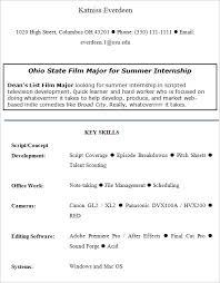 Summer Internship Resume Free 9 Internship Resume Templates In Free Samples
