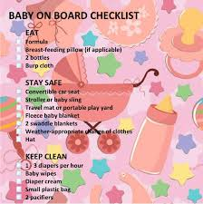 Baby Supplies Checklist Traveling With Baby Checklist
