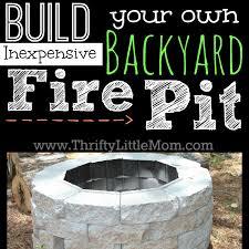 easy diy inexpensive firepit for backyard fun