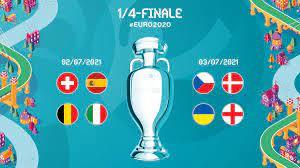 """UEFA EURO 2020 على تويتر: """"📋 #EURO2020 1/4-Finale ✓ 🇨🇭 #SUI 🆚 #ESP 🇪🇸  🇧🇪 #BEL 🆚 #ITA 🇮🇹 🇨🇿 #CZE 🆚 #DEN 🇩🇰 🇺🇦 #UKR 🆚 #ENG  🏴 #SUIESP   #BELITA   #CZEDEN   #UKRENG…  https://t.co/v1NiBkqbO2"""""""