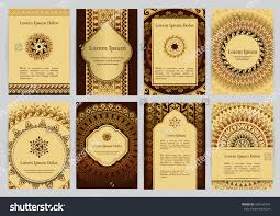 Greek Templates Vector Templates Mandala Brown Gold Beige Stock Vector Royalty Free