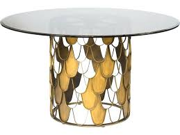 round smoked glass dining table limited brushed brass frosted tempered