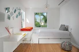 modern floating desk bedroom