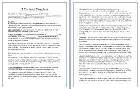 Binding Contract Template Simple Binding Agreement Simple It Contract Contract Templates
