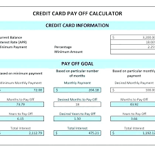 Credit Card Debt Excel Template Payment Plan Spreadsheet Template