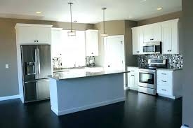 One Wall Kitchen Designs With An Island Plans Interesting Design Inspiration
