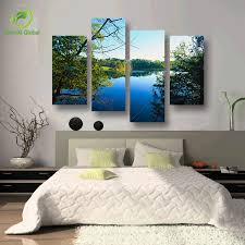 Paintings Living Room 4 Panel Art Scenery Paintings Nature Decoration Wall Scenery