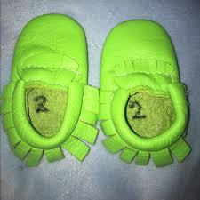 Jaxhoo Lime Green Mocs Size 2