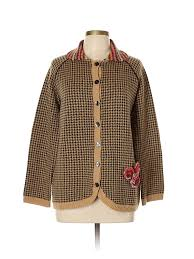 Susan Bristol Size Chart Details About Susan Bristol Women Brown Wool Cardigan 0 X Plus