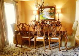 beautiful formal dining room with elizabeth parsons chairs used at the table head as host hostess chairs