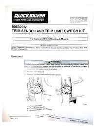 mercruiser trim sender kit michigan Trim Sender Wiring Diagram Mercruiser Trim Gauge Wiring Diagram
