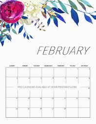 february printable calendar 2019 free printable calendar 2019 in beautiful florals