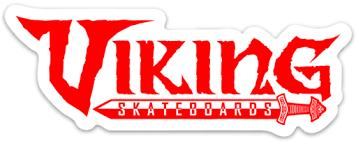 Viking Logo Sticker - Orange - Viking Skateboards