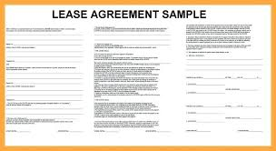 Agreement Sample Lease Resume Basic Template Rental Form Simple ...