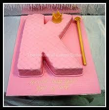 Letter Shape Cake