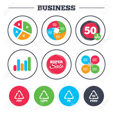 Business Pie Chart Growth Graph Pet Ld Pe And Hd Pe Icons