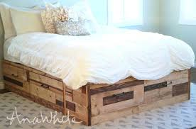 platform bed with drawers plans. White Platform Bed With Drawers Storage Covered In Scrap Wood Pieces Plans