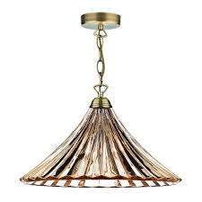 dar lighting ardeche 1 light large pendant amber glass antique brass ard866