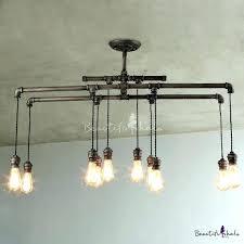 rustic ceiling light fixtures steampunk best pipe lighting ideas on steel fixture cabin
