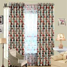 Geometric Patterned Curtains Popular Red Patterned Curtains Buy Cheap Red Patterned Curtains