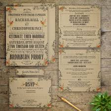Vintage Wedding Invitation Modern Vintage Wedding Invitation By Gray Starling Designs